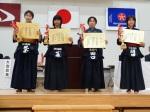 中学女子個人1年生の部入賞者